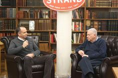 """HELMREICH KICKS OFF 2014 AT THE STRAND On January 7, The Strand in New York City held its first event of 2014— an evening of conversation between William Helmreich (right), author of """"The New York Nobody Knows,"""" and Kirk Semple of the """"New York Times."""""""