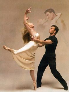 Patrick Swayze (1952-2009) and his wife Lisa Niemi, a dancer as well.