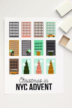 DIY NYC Advent Calendar Tutorial with FREE Printables