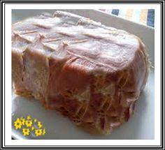 Recevegetimania.Pinterest: Anillo Tentador. Sugerencia  Se puede previamente mojar o pasar cada feta de jamon por gelatina sin sabor.