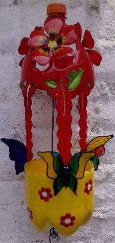 Plastic Spoon Crafts, Plastic Bottle Crafts, Recycle Plastic Bottles, Crafts To Do, Crafts For Kids, Diy Crafts, Recycled Bottles, Recycled Art, Pop Cans