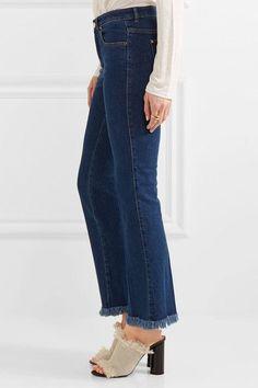 Sonia Rykiel - Cropped Frayed Mid-rise Flared Jeans - Mid denim - FR