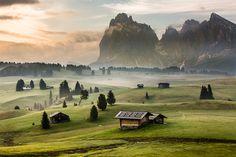 Dolomites, NE Italy - Morning Mood by Hans Kruse, via 500px