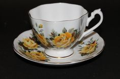 QUEEN ANNE Fine Bone China Teacup and saucer by CraigsTreasures, $18.00