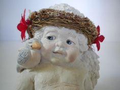 "Dreamsicles Holiday ""Blue Bird on Shoulder"" Cherub #Dreamsicles"
