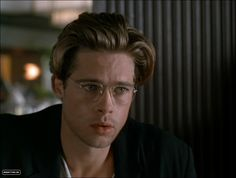Image result for young brad pitt glasses