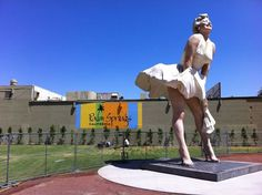 Forever Marilyn statue in downtown Palm Springs, CA - corner of Palm Canyon Drive and Tahquitz Canyon Way.