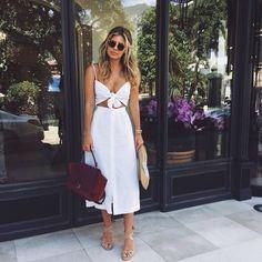 White Tie front summer dress