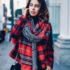 Warm big elegant plain scarf Warm big elegant plain scarf Accessories Scarves & Wraps