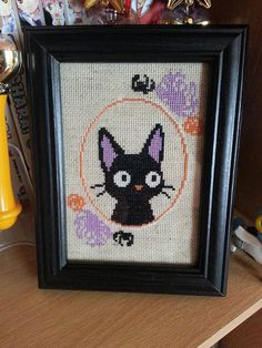 Halloween Jiji Cross Stitch Pattern by Stitchynova on Etsy
