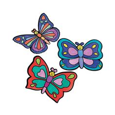 Color Your Own Butterfly Fuzzy Magnets - OrientalTrading.com