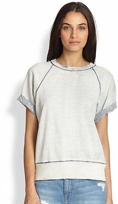 Current/Elliott Short-Sleeve Raglan Pullover on shopstyle.com