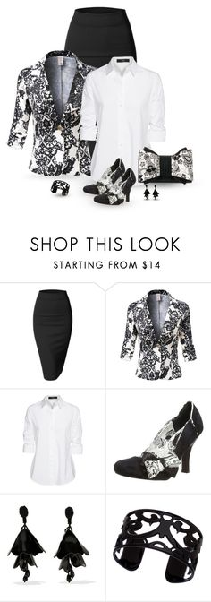 """set"" by vesper1977 ❤ liked on Polyvore featuring Doublju, Steffen Schraut, Ruby Shoo, Oscar de la Renta and Lisa August"