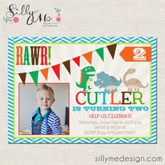 Dinosaur Custom Boy or Girl Birthday Party by sillymedesign, $15.00