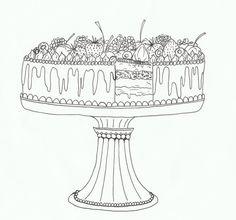 illustratie 'taart' door vera vos