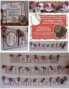 Baseball Themed 1st Birthday Party Package by ASweetCelebration, $269.00