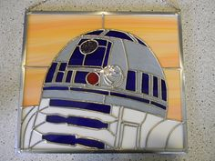 2nd Star Wars Stained Glass (r2d2)