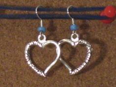 blue heart earrings