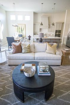 Augusta Home Interior Design New Living Room, Living Room Decor, Alice Lane Home, Model Homes, Kitchen Nook, Open Kitchen, Kitchen Dining, Home Collections, Great Rooms