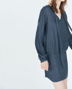 BOW NECKLINE DRESS