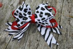 Handmade large boutique style stacked bow. by RockabillyBabyPlace, $2.75