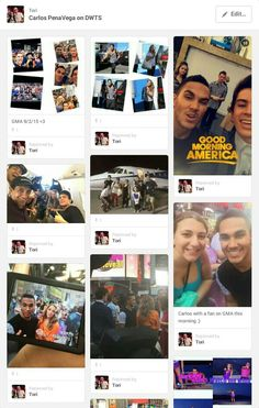 Follow my Carlos PenaVega On DWTS board for all of the pics and vids of him during this season. :)