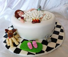 Relaxing In The Bathtub.. by Shugee's Custom Cakes & Cookies ♥, via Flickr