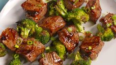 Beef & Broccoli Kebabs Are So Much Better Than Takeout - Grilling Recipes Grilling Recipes, Meat Recipes, Dinner Recipes, Cooking Recipes, Healthy Recipes, Grilling Ideas, Healthy Grilling, Grilled Dinner Ideas, Delicious Recipes