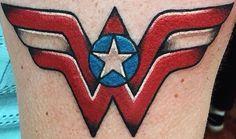 Wonder Woman Badass Tattoos, Body Art Tattoos, Tatoos, Wonder Woman Logo, Wonder Woman Tattoos, Marvel Dc, Sleeve Tattoos For Women, Tattoo Sleeves, Book Tattoo