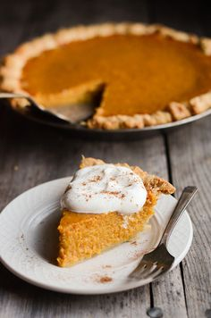Pumpkin pie- this is a super good one- doesn't need the extra 1/2 cup of sugar with the sweetened condensed milk!