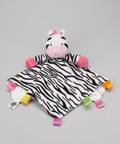 Take a look at this Zebra Snuggle Buddy Security Blanket on zulily today!