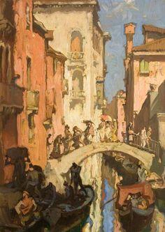 Sir Frank William Brangwyn - A Venice Canal