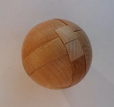 Puzzle Ball! Wooden Ball Puzzle! 7 Pieces Natural Wood Puzzle! Advanced Difficulty! Solution Included! Too Small For Kids 7 & Under! Sale! by OldLadyWhite on Etsy