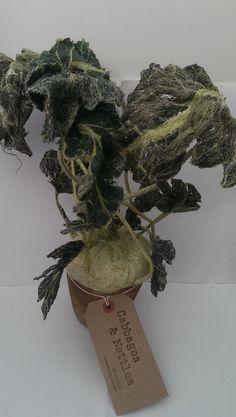 Embroidered Kohlrabi..... handmade# textile# art# machine# embroidery# embroidered# textiles# contemporary# Textile Design, Textile Art, Floral Drawing, Cabbages, Soft Sculpture, Sewing Techniques, Needle Felting, Machine Embroidery, Sculpting