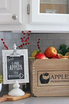 Apple picking fall printables plus instructions on how to mount and frame a…