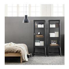 FABRIKÖR Vitrine - dunkelgrau - IKEA
