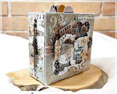 Photo Album Mini Albums, Bookends, Mixed Media, Decorative Boxes, Scrapbooking, Cards, Mixed Media Art, Scrapbooks, Mini Scrapbooks