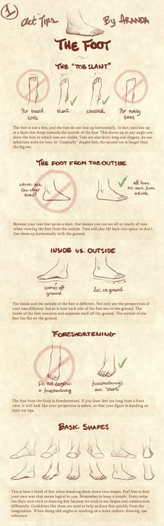 mugenginga:  Art Tips - The Foot by =ArandaDill