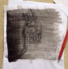 Tonal sketches of contemporary dancer