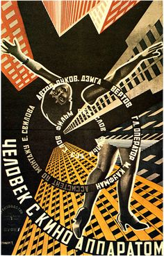 Designed by Stenberg Bros.  Man with a Movie Camera (1929, dir. Dziga Vertov)