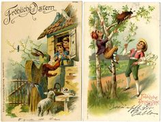 Easter / pentecost / birthday, 16 picture postcards, mostly embossed postcards and used, condition II  Dealer Hadersbeck Auction  Auction St...
