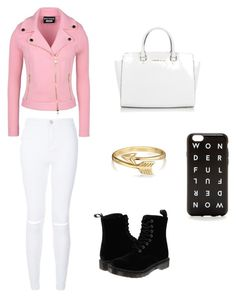 """""""Casual Day"""" by liafrancescaholmes ❤ liked on Polyvore featuring Boutique Moschino, Dr. Martens, Bling Jewelry, Michael Kors and J.Crew"""