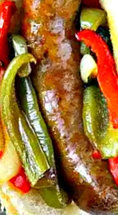 Baked Italian Sausage and Peppers all baked together on a baking sheet, it is ready in under an hour and is perfect for any day of the week. Italian Sausage In Oven, Italian Sausage Casserole, Italian Sausage Sandwich, Sausage Sandwich Recipes, Smoked Sausage Recipes, Pork Recipes, Cooking Recipes, Italian Dishes, Italian Recipes