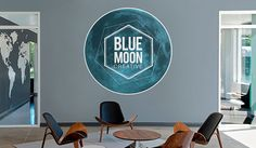 Make custom Logo Wall Decals at StickerYou, high quality and removable, order wall stickers in any size and shape!