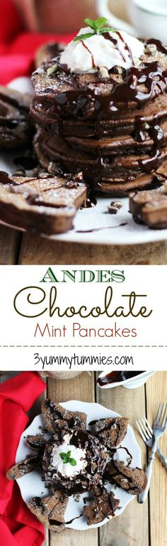 Andes Chocolate Mint Pancakes |