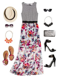 One hot maxi, two cool ways to wear it—dress it up or keep it casual.