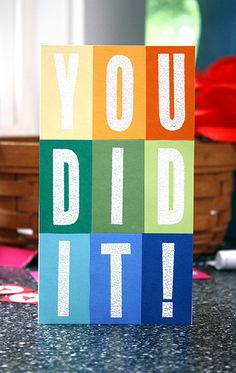 You Did It! Card by @Laura Jayson Bassen