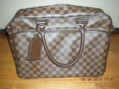 7b35f3940460ee Auth LOUIS VUITTON Damier Ebene Canvas Icare Travel Luggage/Tote/Messenger/ Bag #