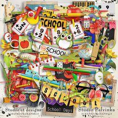 School Days | Digital Scrapbook Kit @ at Scrapbookgraphics