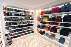A WALL of Birkins... *Caroline Stanbury's closet *= part of ^.^